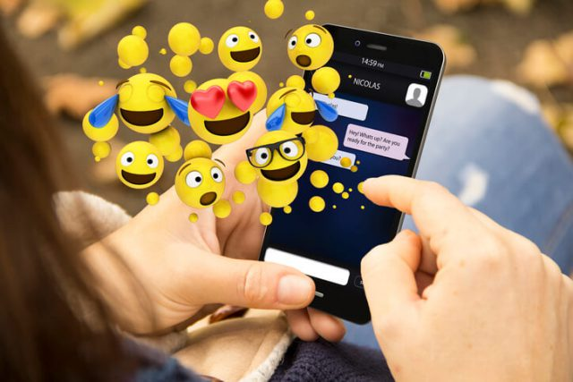 using emojis in text messages